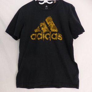 ADIDAS, black tee with adidas logo, medium. BNWOT